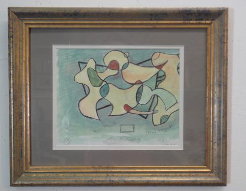 small framed abstract