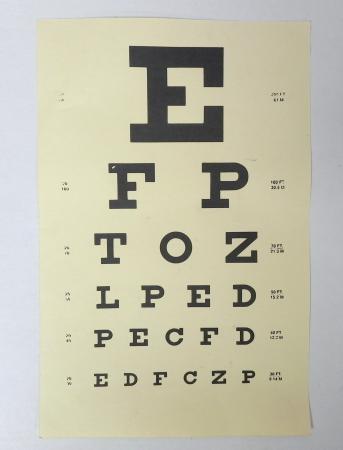 Doctors office Eye Chart