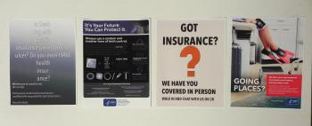 Doctors Office Insurance Bulletin Board  8x11 ea